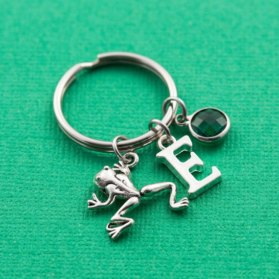 Police Security Guard Keyring Personalised Handcuffs Keychain Letter Personalized Birthstone /& Initial Alphabet Gift