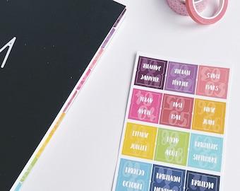 Autocollants ONGLETS   Autocollants planificateurs   Planner stickers   stickers   organisation   séparateurs