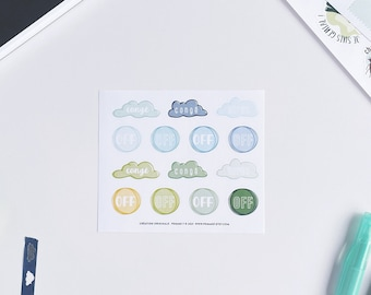 LEAVE stickers   Small sheet  Reusable stickers    Planners Planner stickers     stickers organization