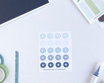 Autocollants ÉTOILE   Petite feuille   Autocollants réutilisables   Planificateurs   Planner stickers   stickers   organisation