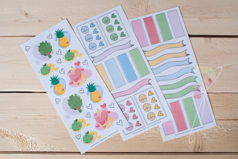 Reusable Stickers Trio Color Planner Stickers Etsy