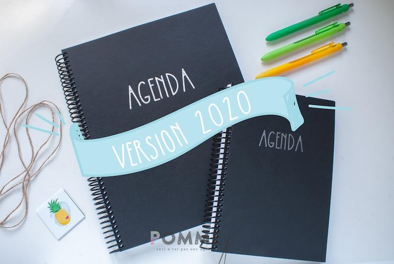 AGENDA 2020 Bullet Journal Style Agenda Planner Organizers image 0