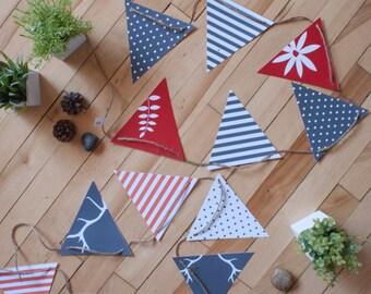 DUO Fanions_Bois de cerf | banderole | décoration | cerf | bois | fleurs | impression | flag banner | decoration | print