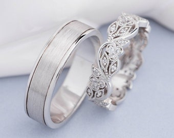 Wedding Rings Pictures.His And Hers Wedding Bands Etsy