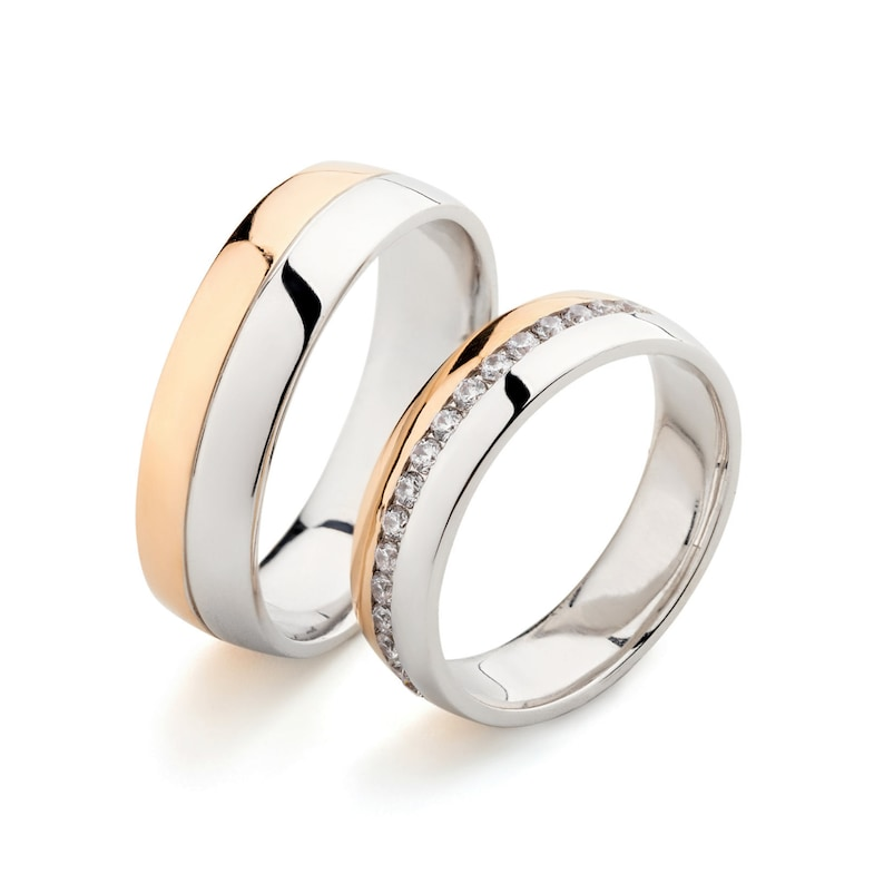 His And Hers Wedding Ring Sets.Gold Wedding Bands Wedding Rings Set His And Hers Wedding Bands Couple Rings Two Tone Wedding Bands Two Tone Ring