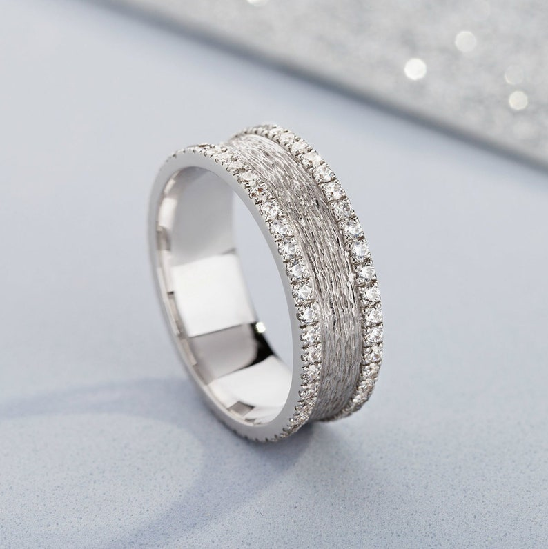 Wedding Bands For Women.Textured Wedding Band For Women Wedding Bands Women Women S Wedding Ring Wedding Bands White Gold Ring For Her Bridal Rings