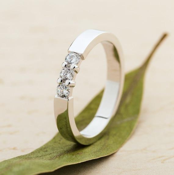 Diamond Wedding Ring Bridal Ring Womens Wedding Band Etsy