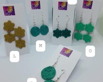 Texture Collection, Polymer Clay handmade unique jewellery