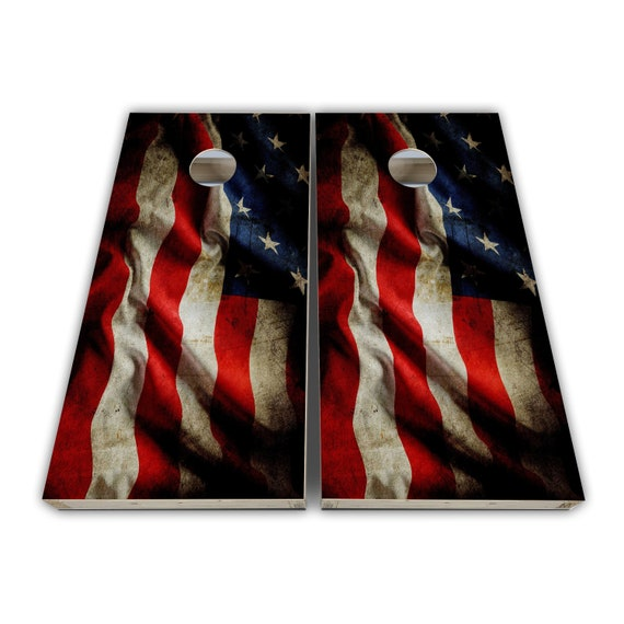 Michigan State Seal Flag Wood Look Custom Made Cornhole Wraps  Skins to apply to your own boards