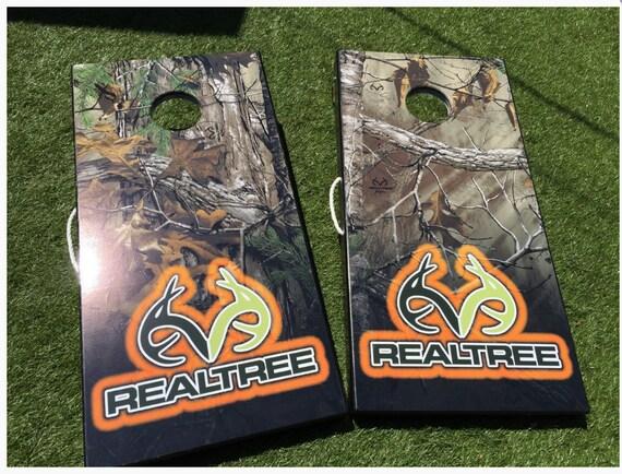 Realtree EXTRA Green Skull Camo Cornhole Boards