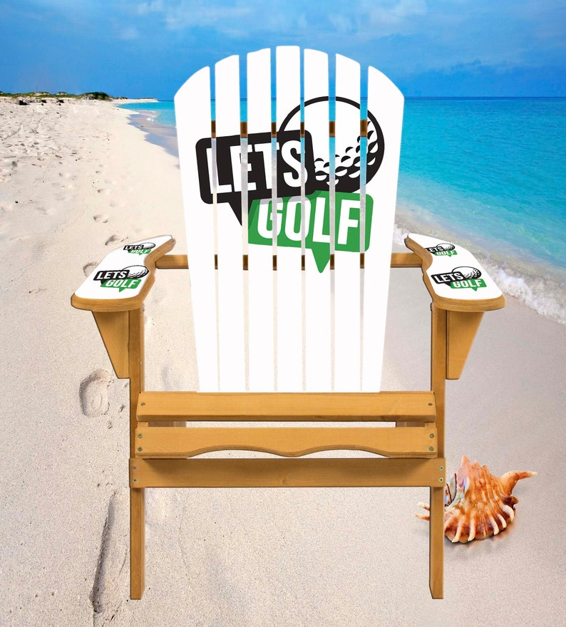 Let's Golf Adirondack Chair Decals image 0