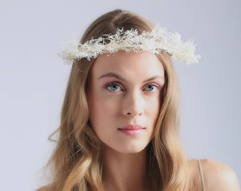 BABY'S BREATH CROWN - flower crown - boho flower crown - ivory flower crown - bridal crown - wedding accessories - baby's breath - bridal