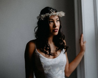 BABY'S BREATH CROWN - flower crown - silver flower crown - gold flower crown - wedding crown - floral crown - gypsophila crown