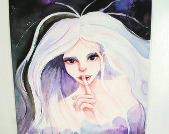Silent Night original watercolor