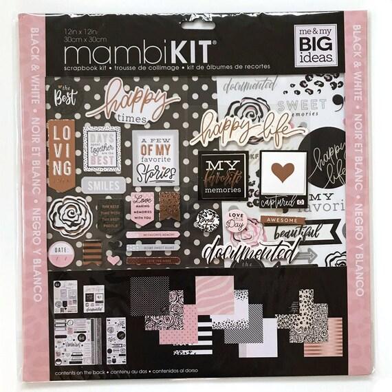 Mambi Black White And Rose Scrapbook Kit Scrapbooking