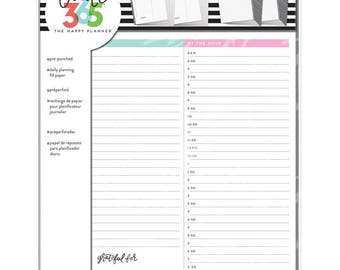 Big Happy Planner Daily Sheets | MAMBI | Planner Paper | Planner Notepaper | Planner Inserts | Punched Inserts