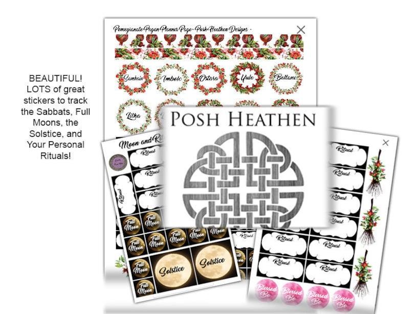 Pagan Calendar.Printable Pagan Calendar Holiday Ritual Sticker Pack Instant Download