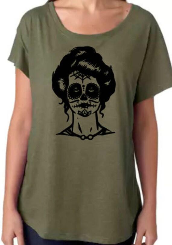 e4b44a84a38 Sugar Skull Women s Tee Halloween Costume Fall