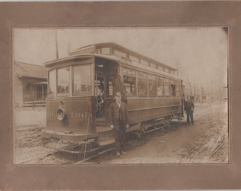Antique Streetcar Photograph