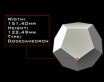 DODECAHEDRON 151mm X 122mm Orgone Casting Mold, Golden Ratio Geometry, HDPE