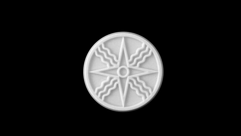 silicone mold Shamash Sun God 50mm