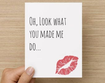 Taylor swift card etsy greeting card look what you made me do funny birthday card song lyrics banter taylor swift sexy card pop culture greetingcards m4hsunfo