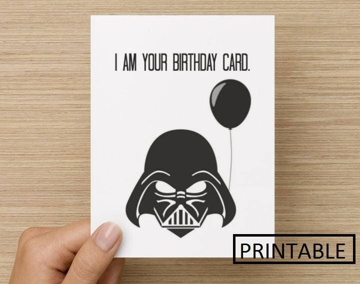 Printable Card I Am Your Birthday Card Birthday Card Star Etsy