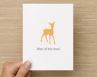 Greeting Card - Harry Potter After all this time, Always Card: Harry Potter Greeting Card, card for girlfriend, card for boyfriend,