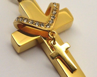 EngravingPersonalisedBespoke 24k Gold Plated Twin Set Broken Heart Clover Keepsake Charm Necklaces Holds Ashes Cremation Urn Pendant