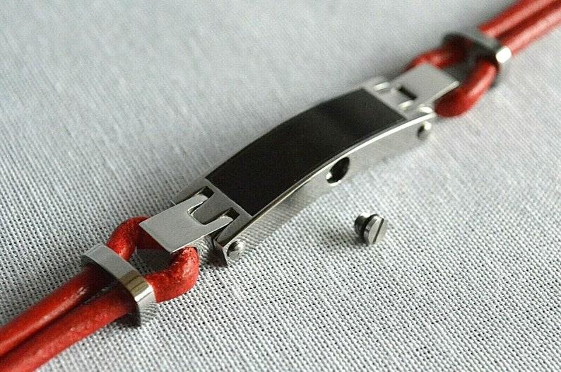 Holds Ashes Fur Sand etc Keepsake Bangle EngravingCustomBespoke Cremation Urn Bracelet Red Leather Unique Funeral Vial UK