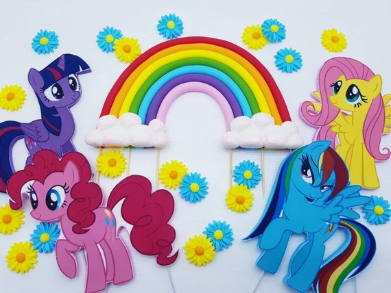 My Little Pony Edible Cake Toppers Rainbow And
