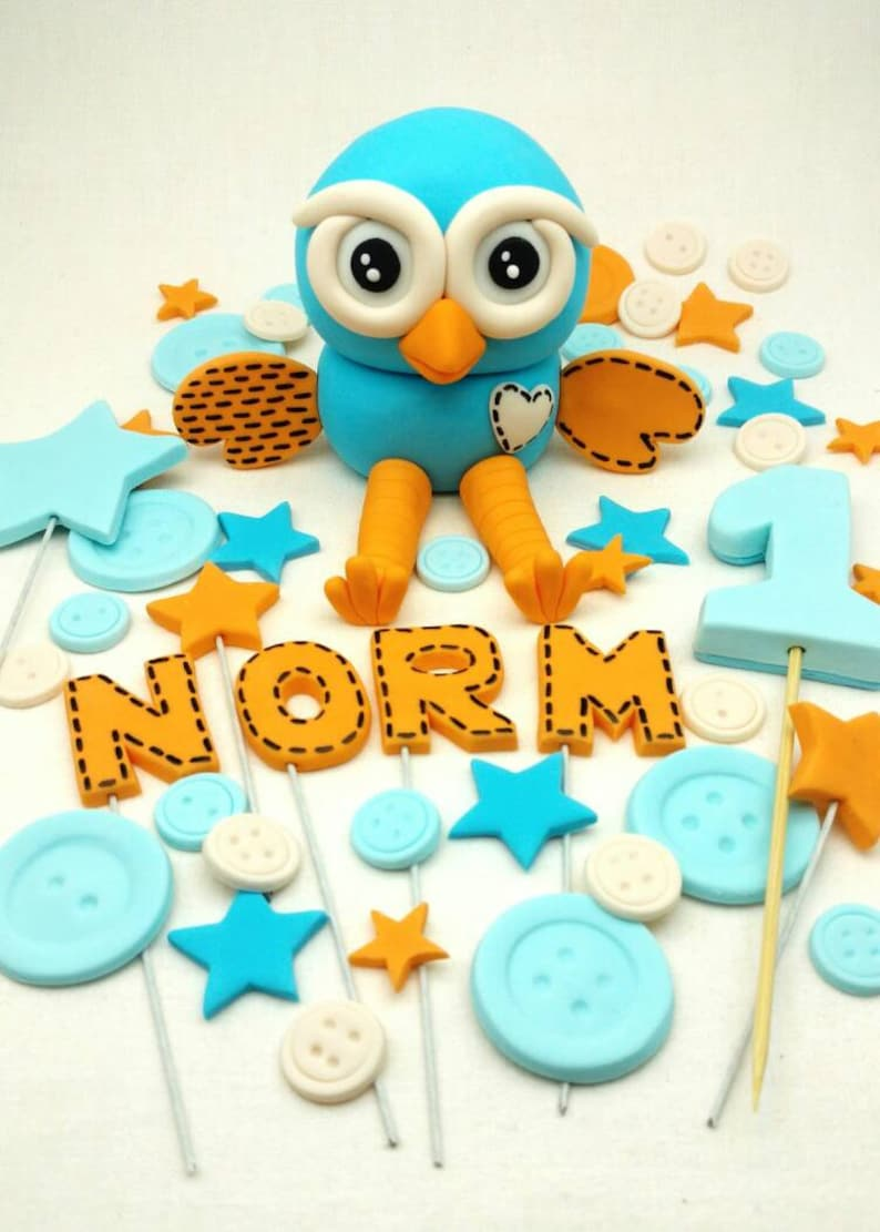 Hoot Or Hootabelle The Owl Edible Birthday Cake Topper 35