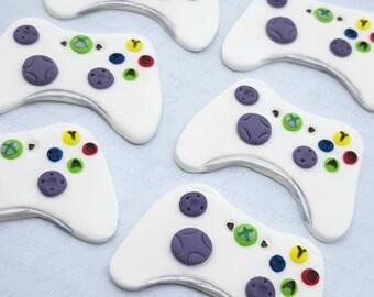Xbox 360 Game Controller edible cupcake topper.