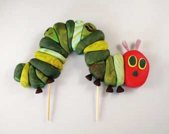 The Hungry Caterpillar Cake Topper, Edible Birthday Decoration