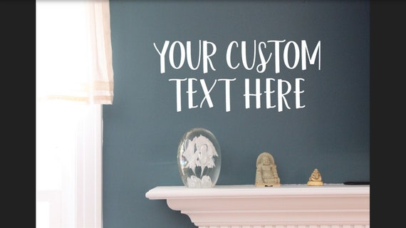 custom text quote vinyl wall decal wall clings quotes for | etsy
