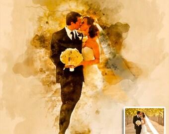 Custom Watercolor, Custom Portrait, Painting from Photo, Wedding Portrait, Watercolour Painting, Custom Art