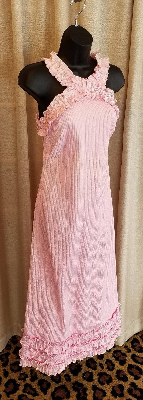 Vintage, 1960s, 60s, Estevez, Dress, Pink, Pintuck
