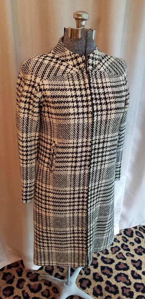 Vintage, 1960s, B.H. Wragge, Black, Ivory, Wool, H