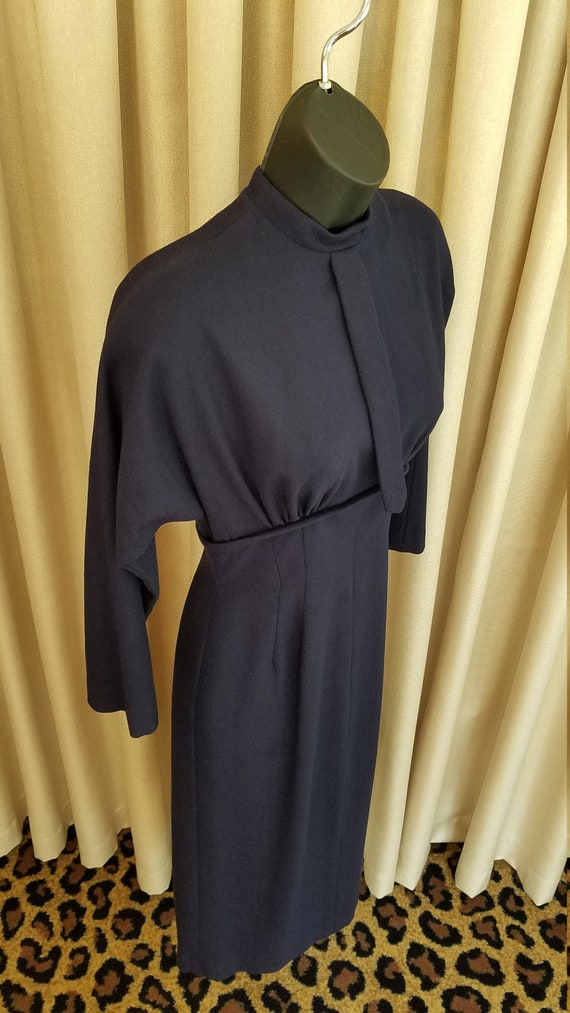 Vintage, 1950's, Mr. Mort, Wiggle, Curvy, Navy, Wo
