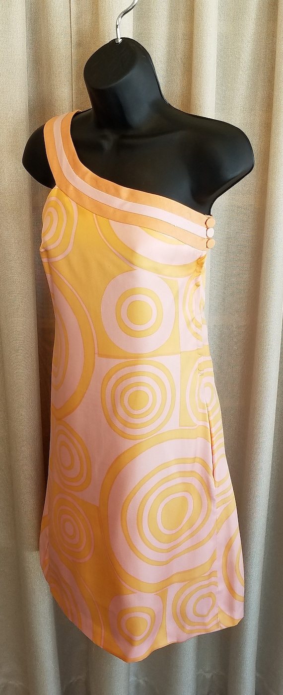 Vintage, 1960s, 1967, B.H. Wragge, Silk, Graphic P