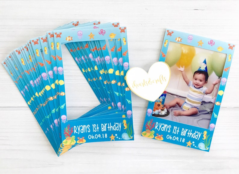 InstaStick SET OF 20 STICKERS Personalized sticker for instax mini film party favors under the sea ocean birthday theme favors