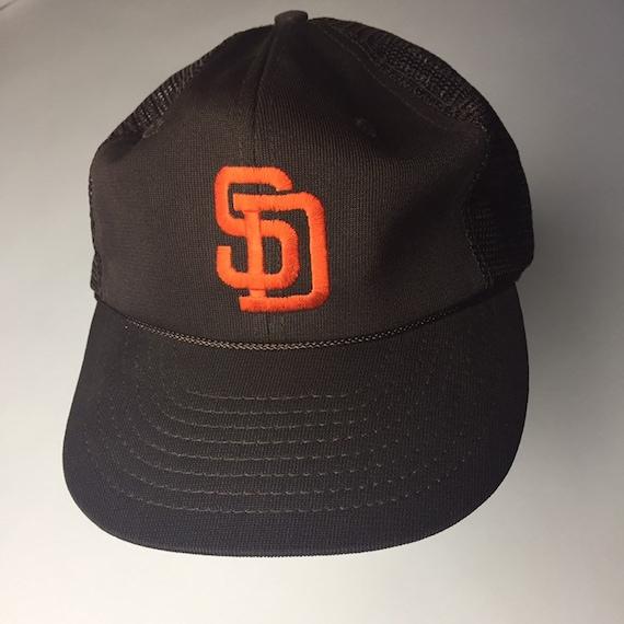 Vintage San Diego Padres Snapback Mesh Trucker Hat 90s  506bb2171ca