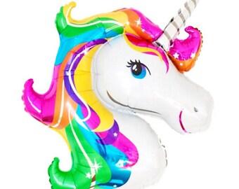 Rainbow Unicorn Balloon for Rainbow Unicorn Party. Girls Birthday Party. Housewarming Gift. Photo Prop