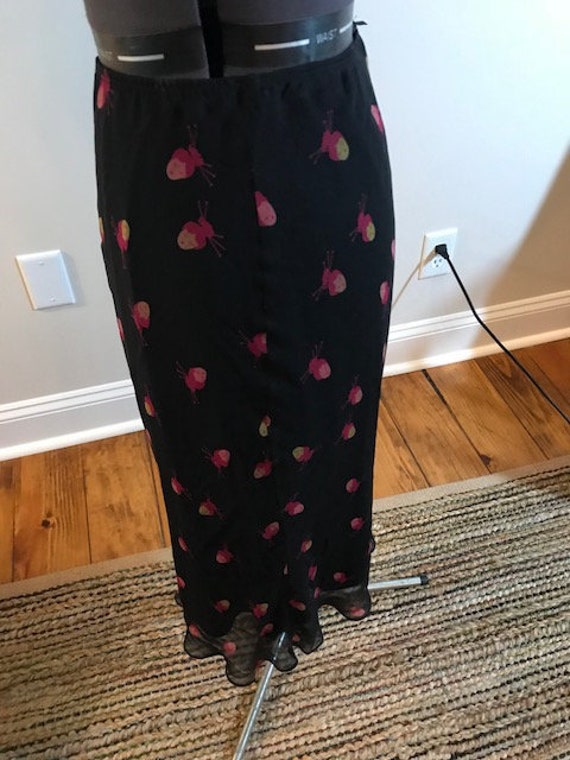 Fun Asian Print Vintage Betsey Johnson Chiffon Ski