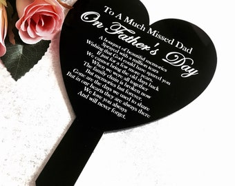 In loving memory Dad Father's Day gift memorial grave marker grave decor outdoor keepsake Father's Day dad gift remembrance gift