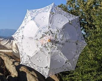 Cream Lace Umbrella Parasol