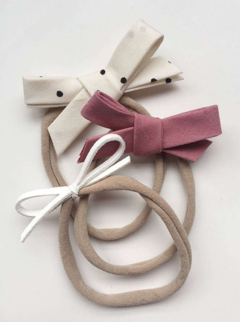 Valentine/'s Bow Set Pink Baby HeadbandsBow Headband Hand-Tied Bow Polka Dot Baby Bow Newborn Photo Prop Toddler Headbands