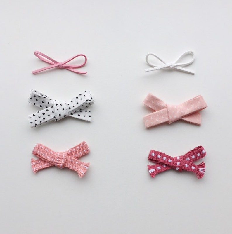 02cdc9ac23f71 Valentine's Bows/ Pink Baby Headbands/Baby Bow Headband/ Fabric Bow/ Faux  Suede Bow/ Woven Bow/ Newborn Photo Prop/ Toddler Headbands
