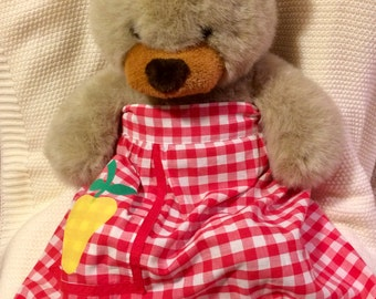 1950s red gingham apron