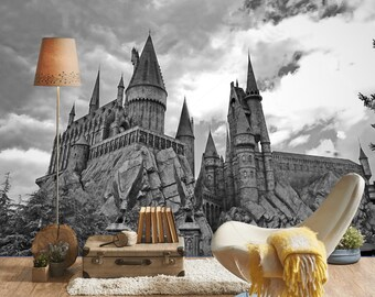 3D Wall Sticker Window Hogwarts Castle Harry Potter Decal Self Adhesive Vinyl Poster Mural Wallpaper
